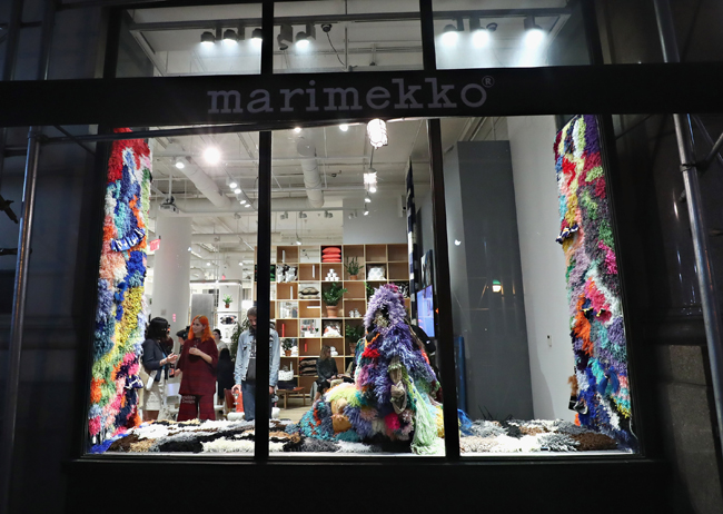 NEW YORK, NY - SEPTEMBER 19: An exterion view as Marimekko and Museum of Arts and Design celebrate New York Textile Month at Marimekko New York on September 19, 2016 in New York City. (Photo by Cindy Ord/Getty Images for Marimekko)
